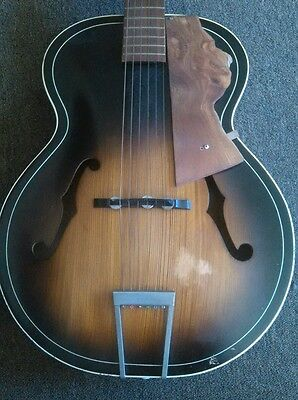 Vintage Harmony Guitar Acoustic Bowed Front Back Archtop