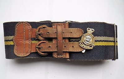 British Army Stable Belt, the Army Catering Corps (God Bless Em) with Cap Badge