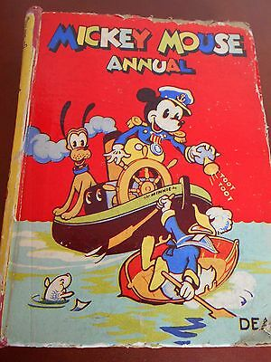 Collectors Walt Disney - Mickey Mouse Annual 1943 - Low Start Price No Reserve
