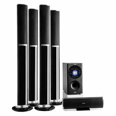 Heimkino System 5.1 Lautsprecher Surround Sound USB SD Bluetooth 145W RMS AUX