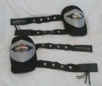 Harley Davidson Youth Elbow Pads. Ages 3-7, Great Shape, Cool Velcro Fastener