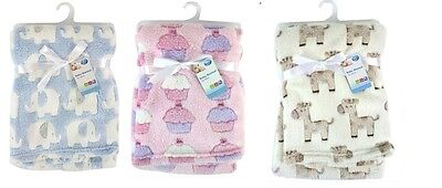 """First Steps"" Luxury Unisex Soft Fleece Baby Blanket for Babies from Newborn"