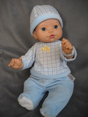 Baby So Beautiful Baby Boy Doll Brown Hair BSB Outfit Diaper Hospital Bracelet