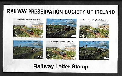 c1990   RAILWAY LETTER STAMPS           Sheetlet