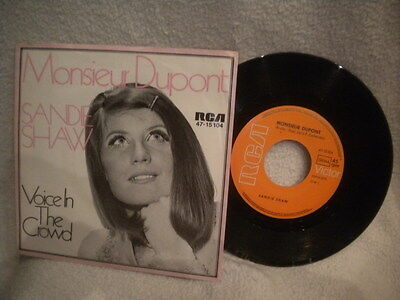 """7"""" Sandy Shaw -- Monsieur Dupont / Voice In The Crowd"""