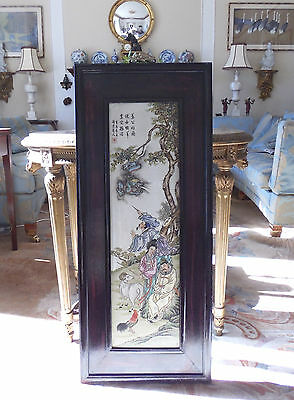 Large Chinese Porcelain Panel Probably Republican Period