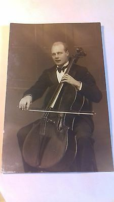 rp card,c1910, unnamed musician,edwardian card