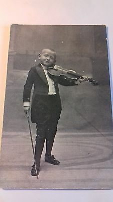 rp card,c1910,unnamed violinist,child virtuoso,musician