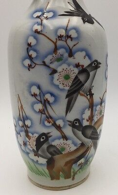 Antique Porcelain Chinese Vase Republican Qianjiang Enamels Signed