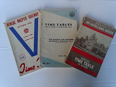 Indian Railway Time Tables from the 1940's
