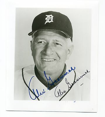 Autographed Photo of Tigers Alex Grammas