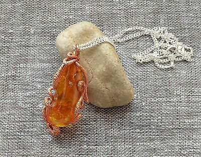 11 gr Genuine Natural Antique Vintage Baltic Amber Pendant Cognac Honey