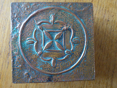 metalware copper art and craftbox