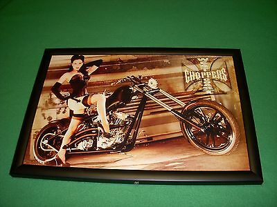 West Coast Choppers Girl Neon / LED Lighted Picture