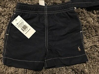 Polo Ralph Lauren Navy Swim Shorts Toddler Baby Age 12 Month 1 Years Old Tagged