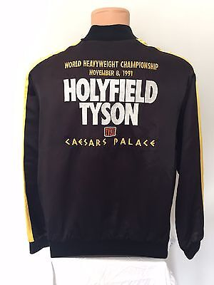 Mike Tyson Evander Holyfield Rare 1991 Fight Jacket Caesars Palace Boxing