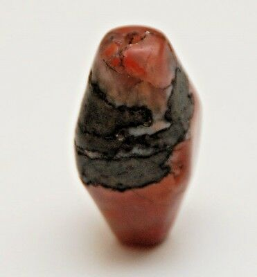 OLD ANTIQUE Carnelian Bicone Shaped Bead_31.8 x 19.1 x 16.1mm