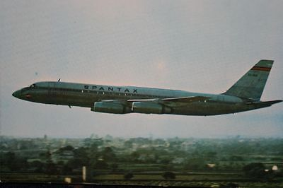 AK Airliner Postcard  SPANTAX CV990 airline issue