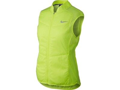 NIKE Womens Thermosoft Polyfill Gilet Running Size XL in Bright Yellow