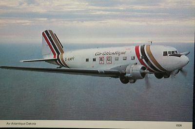 AK Airliner Postcard AIR ATLANTIQUE C-47 Dakota