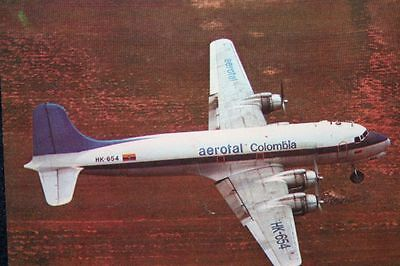 AK Airliner Postcard AEROTAL DC-4 Movifoto I