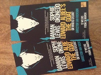 London Theatre Flyers X 2 - The Goat