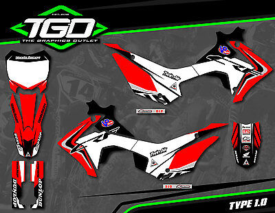 Honda Crf110 2013-17 Full Motocross Mx Graphics Decals Stickers Kit