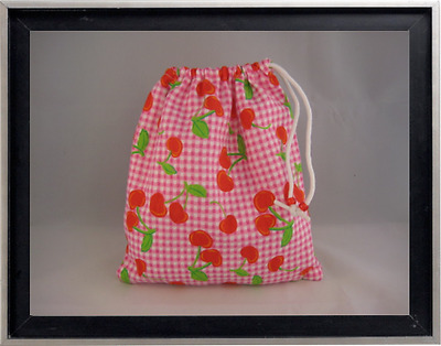 Gymnastics Leotard Grip Bags / Checkered Cherries Gymnast Birthday Goody Bag