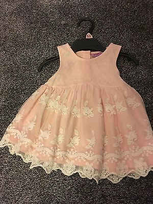 Girls Dress 18-24 Months With Lace Effect