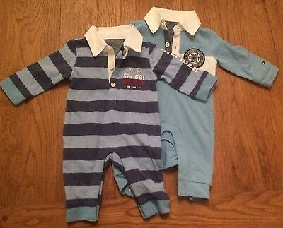 0-3 Months Tommy Hilfiger Rompers X2