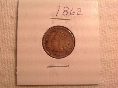 Old US Coin Rare 1862 indian Head Penny Cent Civil war