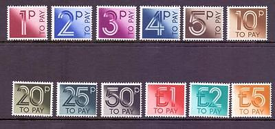 GB 1982 SGD90-101 QEII Postage Due Set to £5 Fine MNH Cat £24
