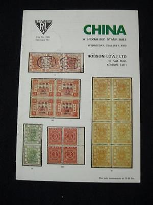 Robson Lowe Auction Catalogue 1970 China