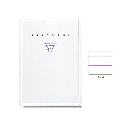 "Clairefontaine ""Triomphe"" Stationery Tablet, Lined, A5 (5.75"" x 8.25"")"