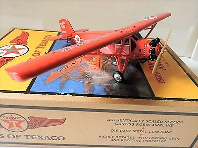 Wings of Texaco - 6th in the Series - 1929 Curtiss Robin Airplane Diecast Metal