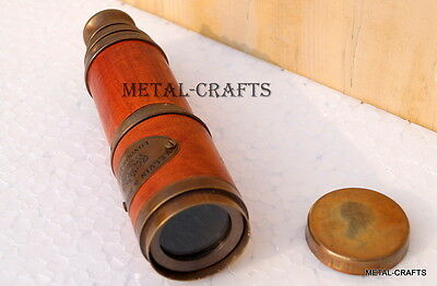 Antique Victorian Brass Telescope Vintage Telescopes W/ Sunsade Christmas Gifts