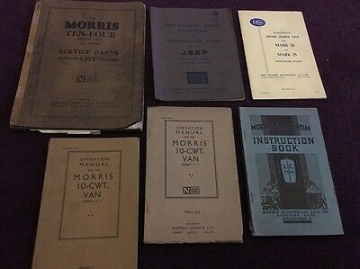 "Morris, Jeep Villiers, Manuals, Service Parts List 10-CWT Van Series ""Y"""