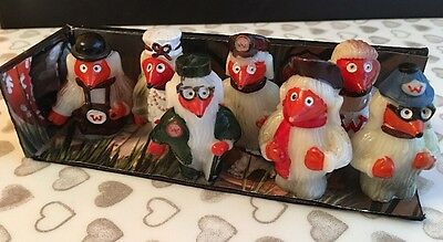 Vintage Wombles X 7 Pencil toppers or Cake decorations. 1970's