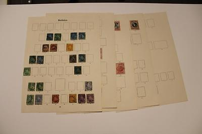 BARBADOS - A QV to KGV Collection on old Ideal pages from Chalons onwards