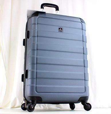 "Tag Matrix 24"" Lightweight Hardside Spinner Suitcase Gray New"