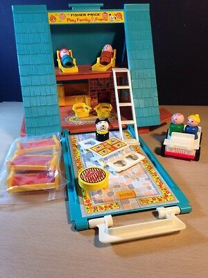 Fisher Price A Frame 990 Complete With Foam On Bed 20 Pieces Vintage