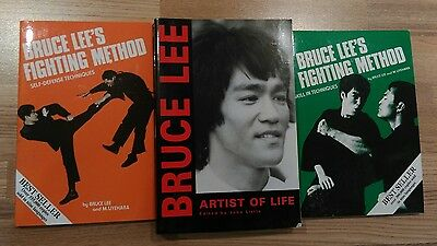 3 Bruce Lee Books Artist of life fighting method skill techniques self defence