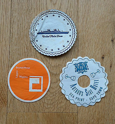 3 x Vintage Cocktail Mats / Coasters  from 1960's.