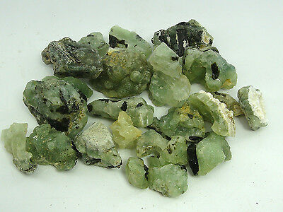 2 Lb Lot Of Gem Green Prehnite With Epidote Rough - From Mali