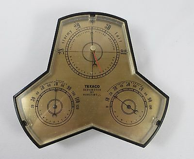 Vintage TEXACO OIL BAROMETER BY HONEYWELL PROMOTIONAL GIVE AWAY 1961