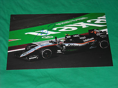Sergio Perez Signed 2016 Force India F1 Pic 20X30 Very Beautyfull Photo