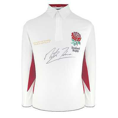 Martin Johnson Rugby Shirt Signed England Collectables Memorabilia Autographed