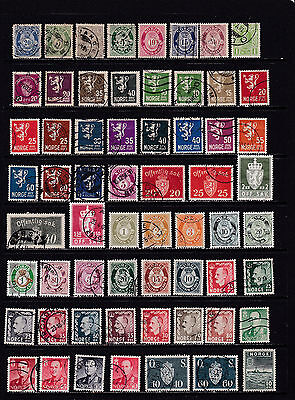 Norway - Neat Wide Ranging Stamp Selection  2 SCANS (No12021)