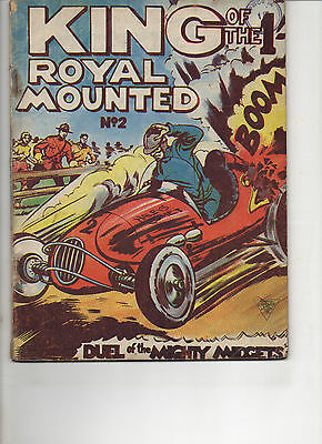 King Of The Royal Mounted 2 Very Good L. Miller Uk Comic