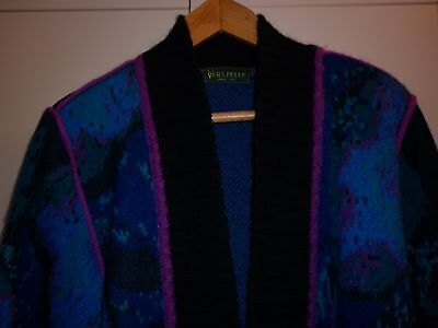 VINTAGE 1980s MOHAIR MIX FUNKY JUMPER COAT SMALL EXCELLENT CONDITION